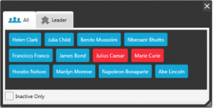 The Participants Panel can be set to display All Participants